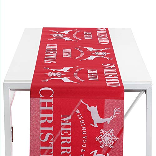 Tafelloper, prachtige print patroon Kerst tafelloper Xmas Decor voor thuis, kantoor, bar, restaurant, etc. (B)
