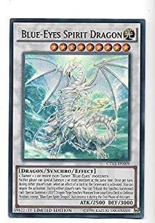 Yugioh Ultra Rare Card Blue Eyes Spirit Dragon Limited Edition CT13-EN009 by Yu Gi Oh!