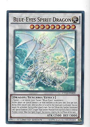 Yugioh Ultra Rare Card Blue Eyes Spirit Dragon Limited Edition CT13-EN009 by Yu Gi Oh!