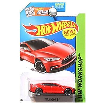 Hot Wheels 2015 HW Workshop Tesla Model S 217/250 Red