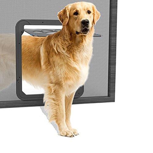 Namsan Colgajo de Perro para Mosquitera Gatera para Mosquitera Fácil de Montar Bloqueable para Perro/Gato (36cm * 31cm)