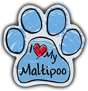 Scribble Paw Dog Magnets: I LOVE MY MALTIPOO | Cars, Trucks, Refrigerators