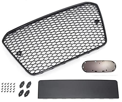 Waben- Gitter- Kühler- Sport- Front- Rippen- Grill mit Emblemhalter Schwarz Eintragungsfrei