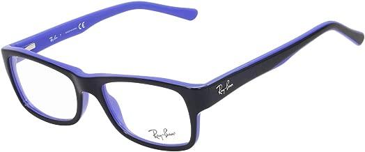 Ray Ban RX5268 Eyeglasses 50-17-135 Top Black On Blue 5179 RB5268