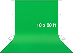 CRAPHY Photo Studio Backdrop 10 x 20FT / 3 x 6M Silk Cotton Cloth Collapsible Background Lightweight Seamless Sheet for Professional Photography- Green