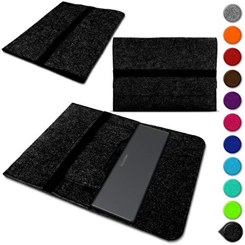 Sleeve Hülle kompatibel für Medion Akoya E3222 Schutzhülle Filz Tasche Laptop Cover Notebook Case 13.3 Zoll, Farbe:Dunkel Grau