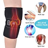 Knee Heating Wrap Knee Support for Arthritis Heated Knee Brace Wrap Knee Pads Thermal Therapy Knee Brace Wrap for Pain Relief 1PC for Men Women (Ice Pack NOT Included)