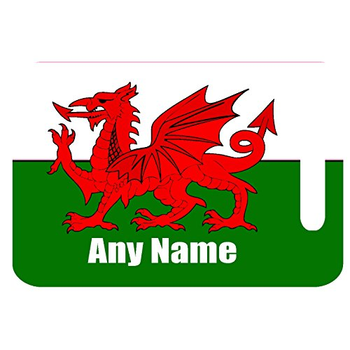 Personalised Wales Welsh Flag Print MDF Luggage Suitcase TAG with Strap