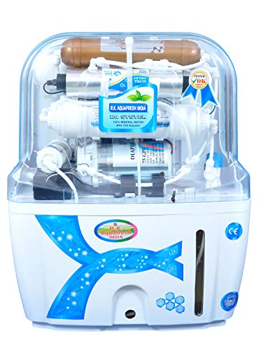Rk Aquafresh India Az Series K200 Transparent with Active Copper Filter Technology 12Ltrs{Ro+Uv+Uf+Active Copper+Tds Adjuster} Ro Water Purifier
