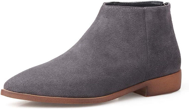 AdeeSu Womens Nubuck Low-Heel Solid Urethane Boots SXE03990