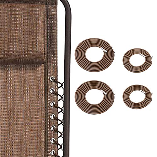 SunnyZoo Professional Replacement Cords for Zero Gravity Chair(4 Cords), Zero Gravity Recliner Repair Tool for Lounge Chair, Bungee Chair Cord (Brown)