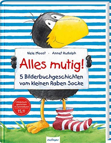 Der kleine Rabe Socke: Alles mutig!: 5 Bilderbuchgeschichten vom kleinen Raben Socke | Lustige Vorlesegeschichten über Freundschaft für Kinder ab 3