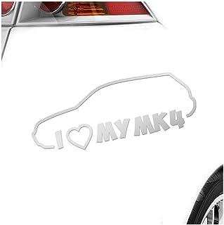 Kiwistar I Love My MK4 20 x 8 cm IN 15 Farben   Neon + Chrom! Sticker Aufkleber