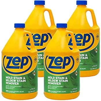 Zep Mold Stain and Mildew Stain Remover 1 Gallon  Case of 4  ZUMILDEW128 Professional Strength