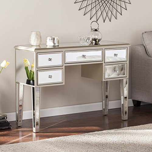 SEI Mirage Glam Mirrored Console/Desk - Champagne - 43' W x 15.5' D x 30.25' H