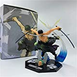 WJSWBX 17CM One Piece Roronoa Zoro Anime Action Figure PVC Figurine Model Toys Collection Birthday...