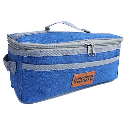 【YOGOTO】 クッキングツール ボックス 調理器具 入れ 調味料ケース アウトドア 収納バッグ バーベキュー キャンプ キッチンツールボックス コンテナ (ブルー)