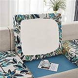 CENPENYA Fundas de cojín de asiento de sofá duraderas fundas de cojín de tela elástica de poliéster antideslizante Protector de muebles para cojines de sofá (grande de 4 plazas, A14)