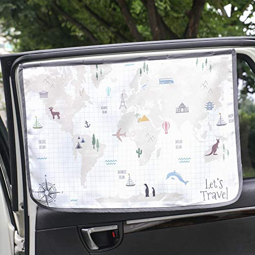 Magnetic Car Sun Shade Curtain for Side Window Baby Kids Children Sunshade Protector Protects product image