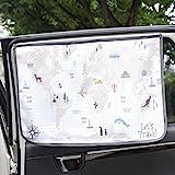Magnet Sun Shade Cortina de Parasol magnética para Ventana Lateral de Coche Sol Sombra Cortina para bebés y niños – Protector de Parasol (WorldTravel)