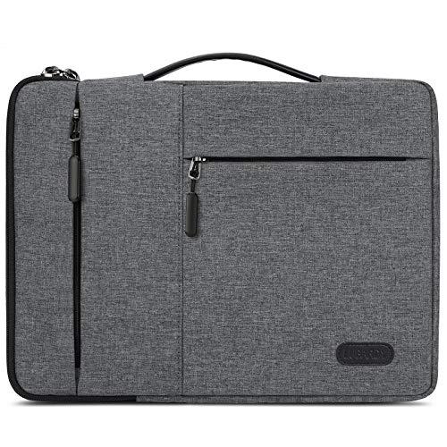 """Lubardy Custodia PC 13-14 Pollici Impermeabile Antiurto Borsa Porta PC per Macbook Air/Pro 13-13,3 """"Grigio Chiaro"""