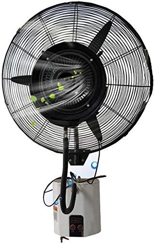 Hammer Movimiento de velocidad del aire de 32 pulgadas de circulación de aire portátil, de montaje en pared ventilador oscilante industrial con humectación de la niebla y el control remoto, 3 configur