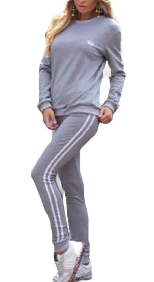 ポンドコットン参加するレディースセット プルオーバー ジョガー パンツ 2ピース 衣装 スポーツ ジャンプスーツ セット