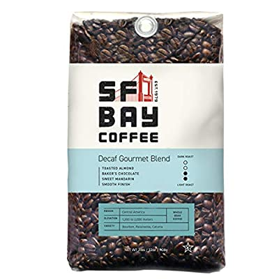 SAN FRANCISCO BAY SF Bay Coffee Whole Bean 2LB Medium Roast Swiss Water Processed,Decaf Gourmet Blend,32 Ounce