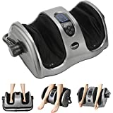 GATCONNIE Foot Calf and Leg Multifunctional Massager with Heat(New) Automatic Massage-Deep Kneading,Relieve Foot Calf Leg Fatigue,LED Touch Screen with Remote Control Grey