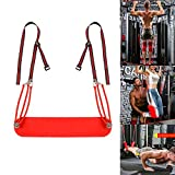 <span class='highlight'><span class='highlight'>GYFHMY</span></span> Pull Up Leg Aid Strap - Elastic PU Material Abdominal Exercise - Leg Support Hanging Sling, Perfect for Core Strength, Home Training, Gym Workouts
