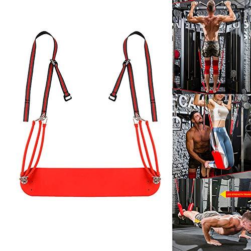 Pull Up Leg Aid Strap - elastisches PU-Material für die Bauchmuskulatur - Beinstütze, hängende Schlinge, perfekt für die Kräftigung des Körpers, das Heimtraining und das Training im Fitnessstudio