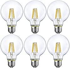 Dimmable LED Globe Light Bulb, G25 LED Vintage Light Bulb, 60W Equivalent, 500Lumens, 2700K Soft White, E26 Base, UL Listed, 6-Pack