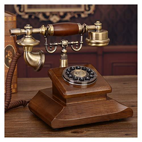 WSZMD Teléfono Pared Retro Teléfono con Cable Clásico Teléfono Vintage Teléfono Línea Fija Dial, para Home Hotel Decoración Teléfono Retro