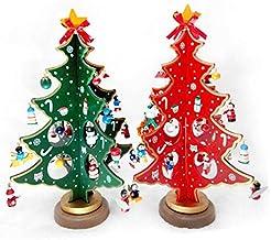 QXM creatieve DIY houten kerstboom decoratie ornamenten kerstboom tafel bureau decoratie