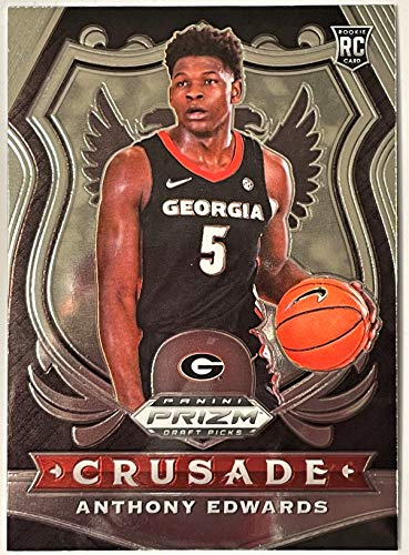 ANTHONY EDWARDS 1st PRIZM Rookie Card - 2020 Panini Prizm Crusade DP Basketball - #1 Pick in 2020 NBA Draft - Minnesota Timberwolves