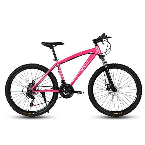 Mrzyzy Adulto Bicicleta De Montaña, Bicicleta De Montaña De 24 Pulgadas 21/24/27 Velocidad, La Suspensión Completa De Bicicletas De Montaña, Doble Disco De Freno, Asiento Ajustable