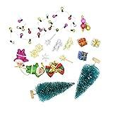 SaniMomo Puppenhaus Miniatur Weihnachten Zubehör Garten Dekoration Puppenstube Weihnachtsdeko