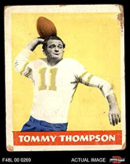 1948 Leaf # 9 YEL Tommy Thompson Philadelphia Eagles (Football Card) (Yellow Jersey Number) Dean's Cards 1.5 - FAIR Eagles