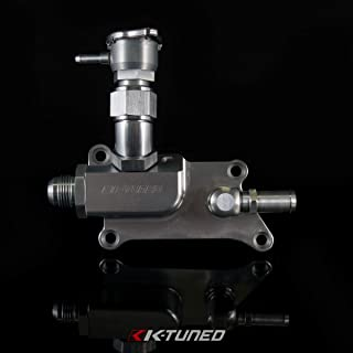 K-Tuned Upper Coolant Housing W/Straight Elbow & Filler & 16AN for K20Z3 K24