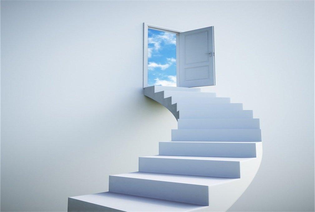 aaloolaa 7 x 5ft vinilo fotos fondos diseño creativo escaleras de madera puerta cielo adulto niña