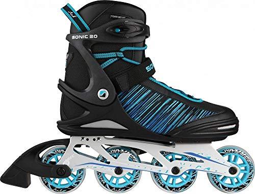 Stuf Rollschuhe Sport Sonic Alu 80 Inline Skates Herren schwarz blau Gr 43