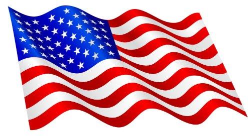 8 x 15 cm - Konturschnitt - Autoaufkleber Fahne der USA wehend Flagge Sticker Aufkleber fürs Auto Motorrad Handy Laptop outdoor / indoor