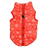 Howstar Pet Camouflage Cold Weather Coat, Small Dog Vest Harness Puppy Winter Padded Outfit Warm Garment (S, Red)