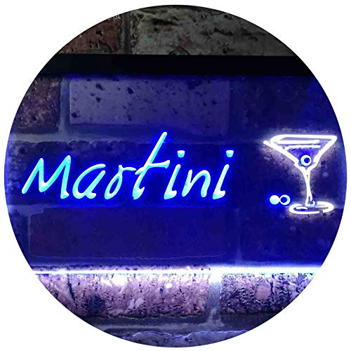 ADV PRO Martini Club Wine Bar Illuminated Dual Color LED Enseigne Lumineuse...