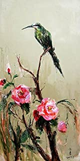Oil Painting 'Chinese Bird And Flower Painting' Printing On Perfect Effect Canvas , 12x24 Inch / 30x61 Cm ,the Best Wall Art Artwork And Home Decoration And Gifts Is This Best Price Art Decorative Canvas Prints