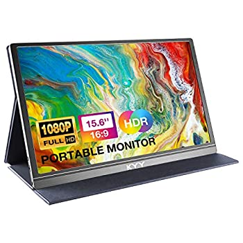 Portable Monitor - KYY 15.6inch 1080P FHD USB-C Laptop Monitor HDMI Computer Display HDR IPS Gaming Monitor w/Premium Smart Cover & Screen Protector Speakers for Laptop PC MAC Phone PS4 Xbox Switch