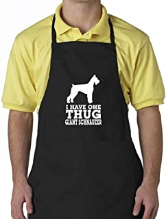 """Eddany I have one thug Giant Schnauzer Apron 24"""" wide by 30"""" long."""