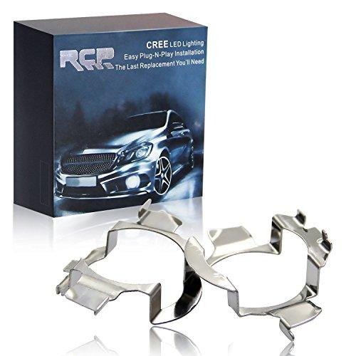 RCP -H7AD05US- H7 LED Headlight Bulb Adapter Holder for Mercedes-Benz E/MAD Class, Audi, Buick, Volkwsagen, 2pcs