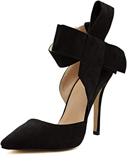 Women's Pointy Toe High Heel Stiletto Big Bow Pumps