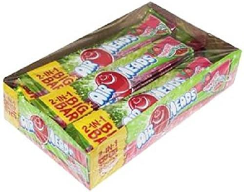 Airheads Big Bar 2In1 Strawberry Watermelon Count 24 1 5 oz Sugar Candy Grab Varieties Flavors product image